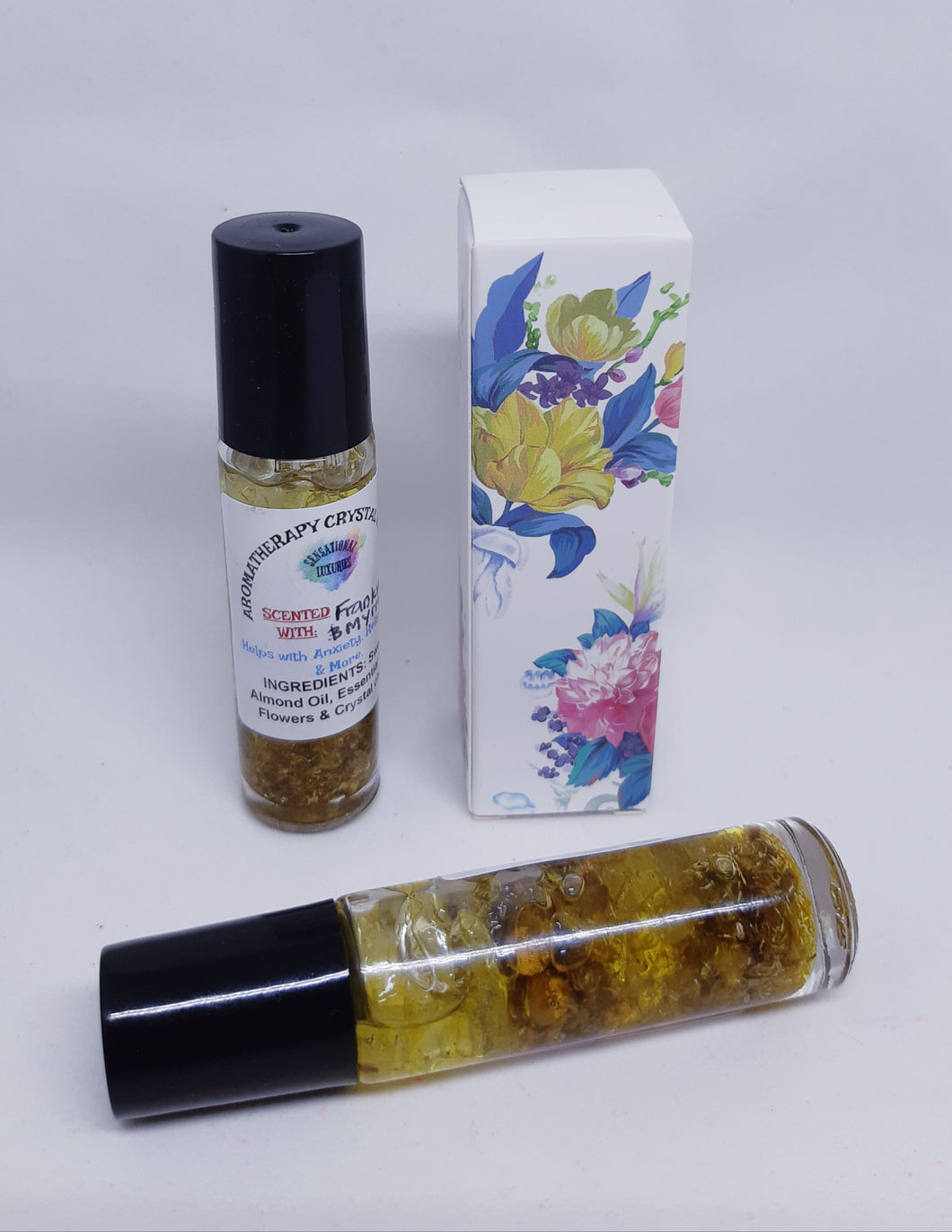 Frankincense and Myrrh Aromatherapy Crystal Roller.