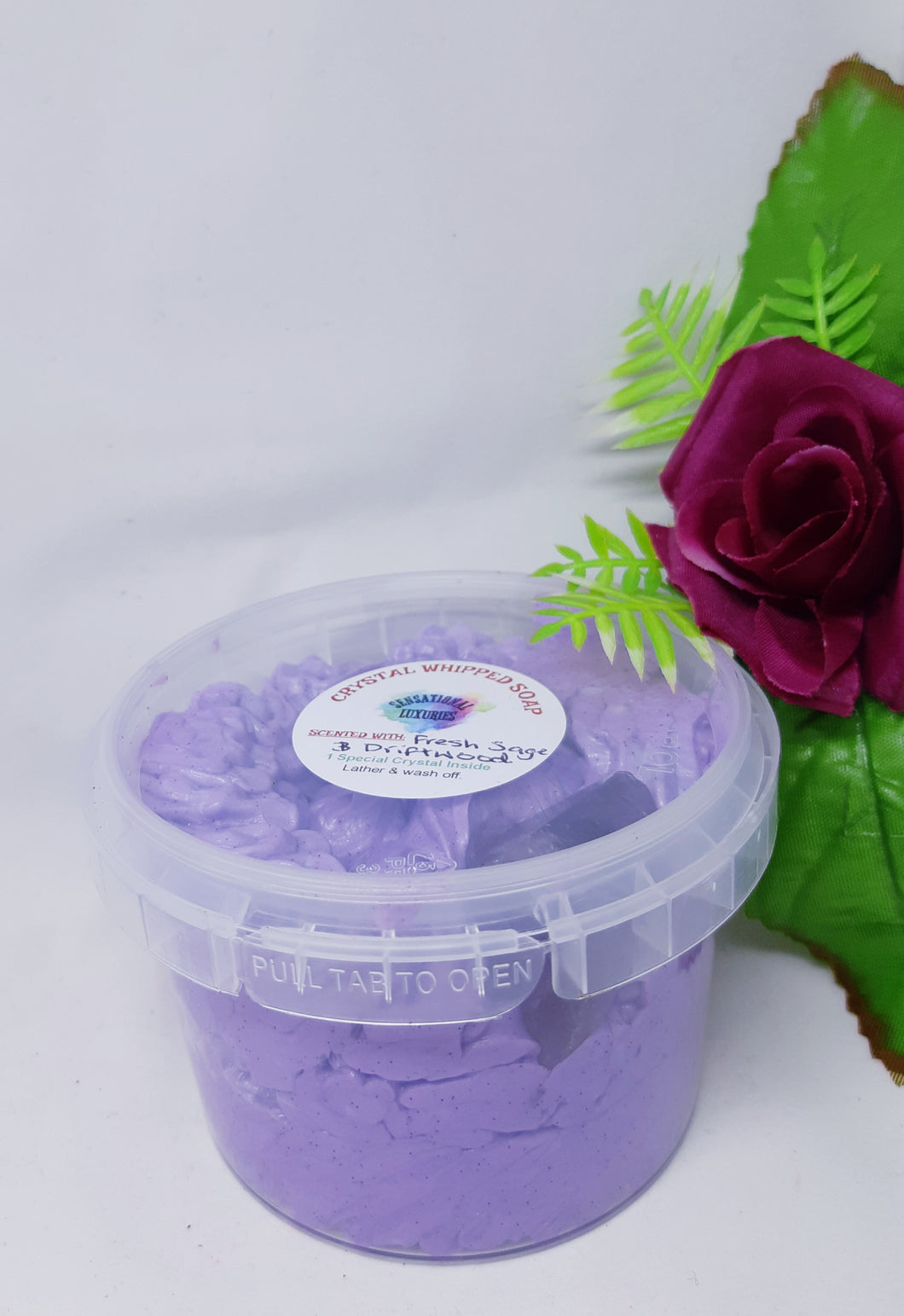 Crystal Whipped Soap - Amethyst Point.