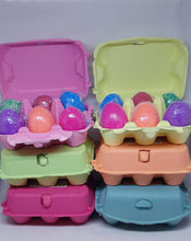 Load image into Gallery viewer, Easter Egg Bath Bombs - Carton of 6 mixed.