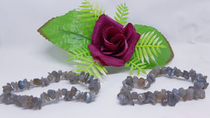 Variety Of Crystal Chip Bracelets.