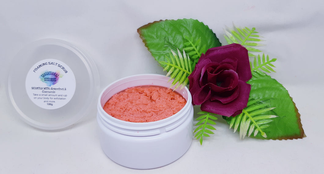 Australian Clay & Grapefruit Foaming Salt Scrub.
