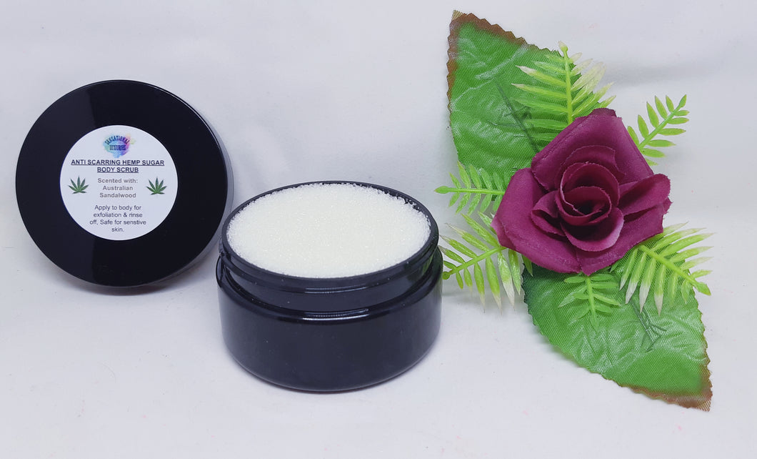 Anti-Scarring Hemp Sugar Body Scrub.