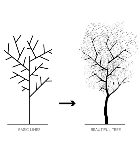 From Basic Lines to Beautiful Tree-Studio Alternativi