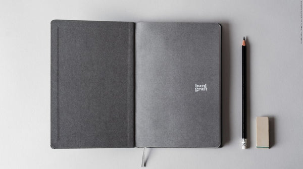 grey notebook minimal