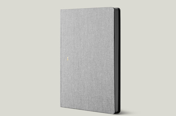 grey notebook