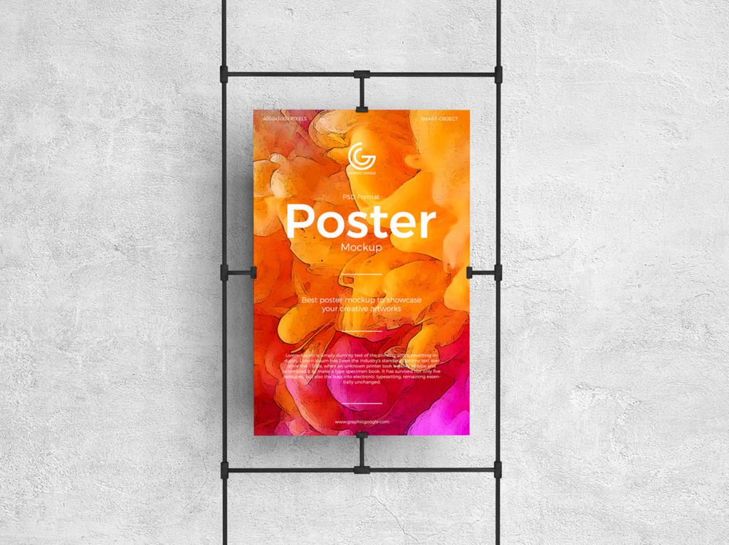 Sandwiched Clasps Poster Mockup Free
