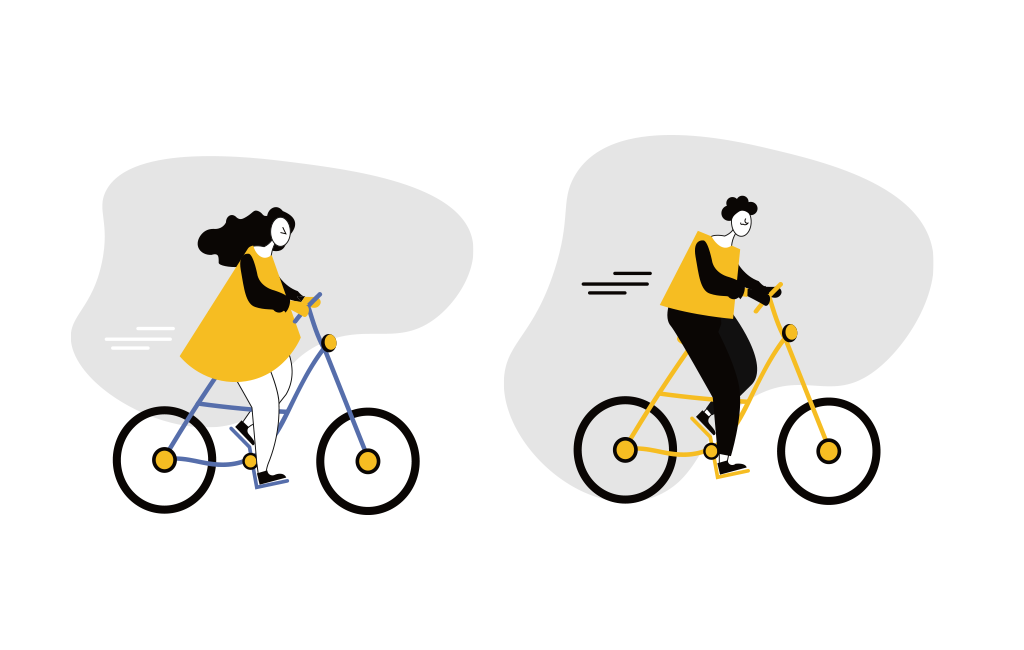 Couple On A Bike Ride Vector