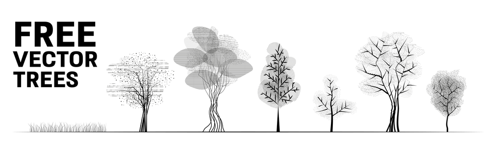 free download vector trees