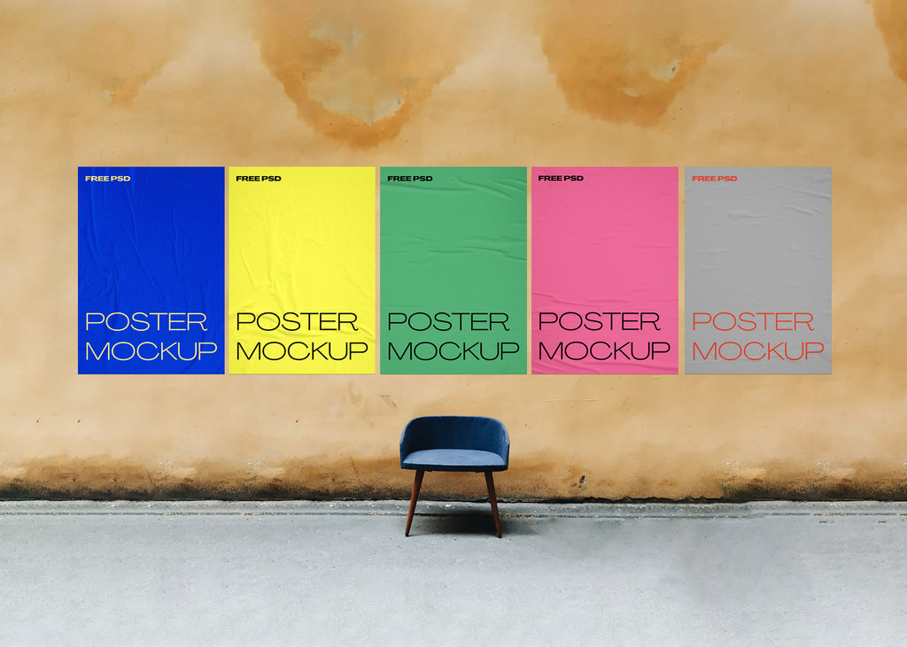 free poster mockup architecture