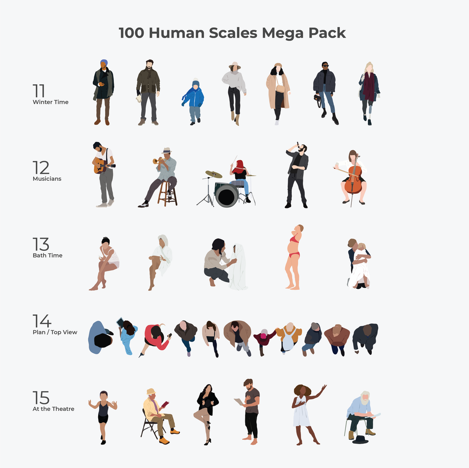 vector people human scales