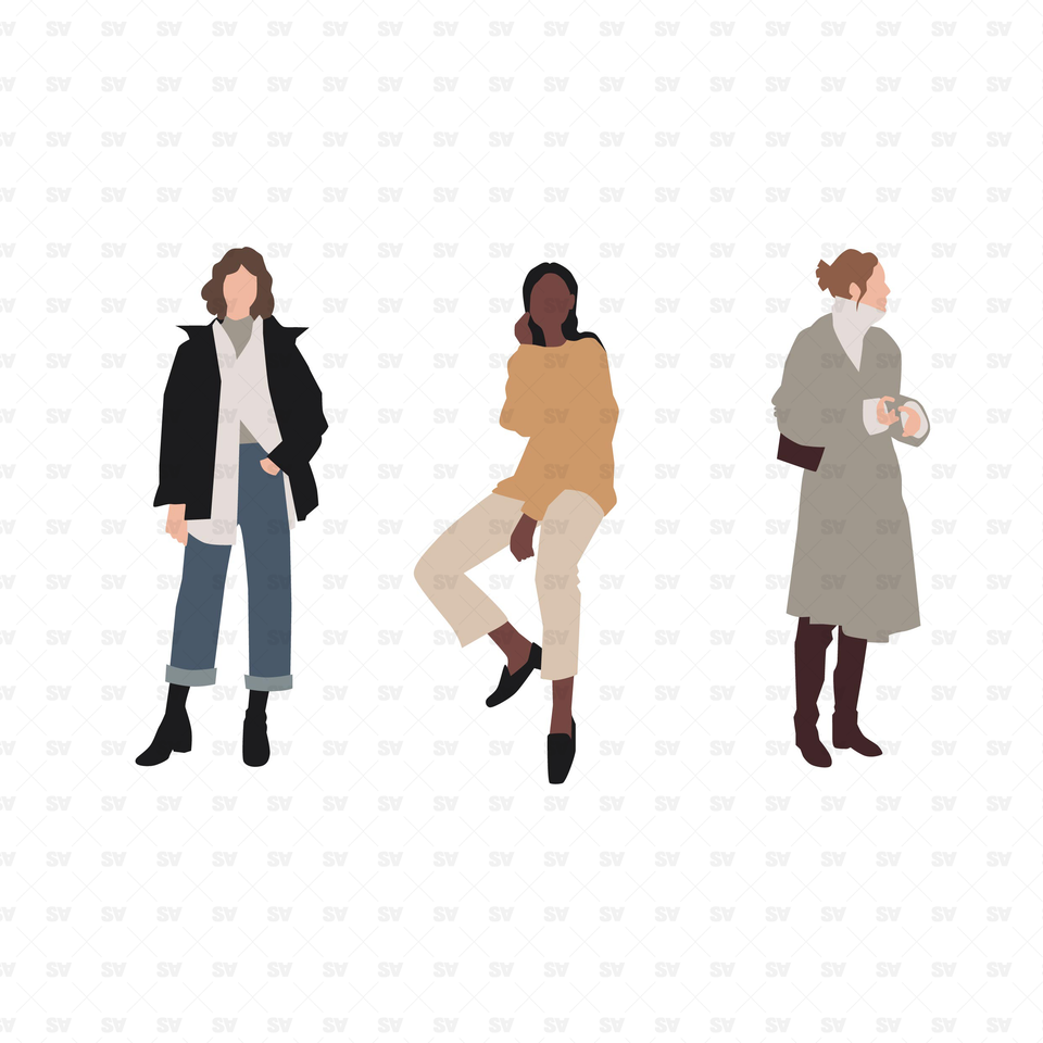 flat vector people illustration
