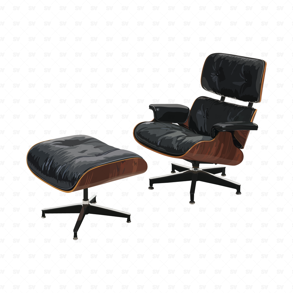 Vector Eames Furniture (50 Figures)