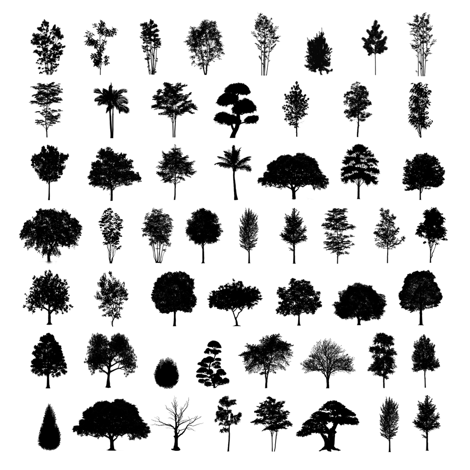 Photoshop Brushes - 54 Trees