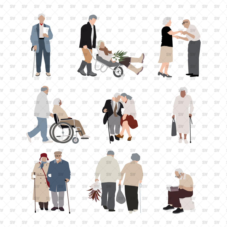 Elderly Vector / PNG People