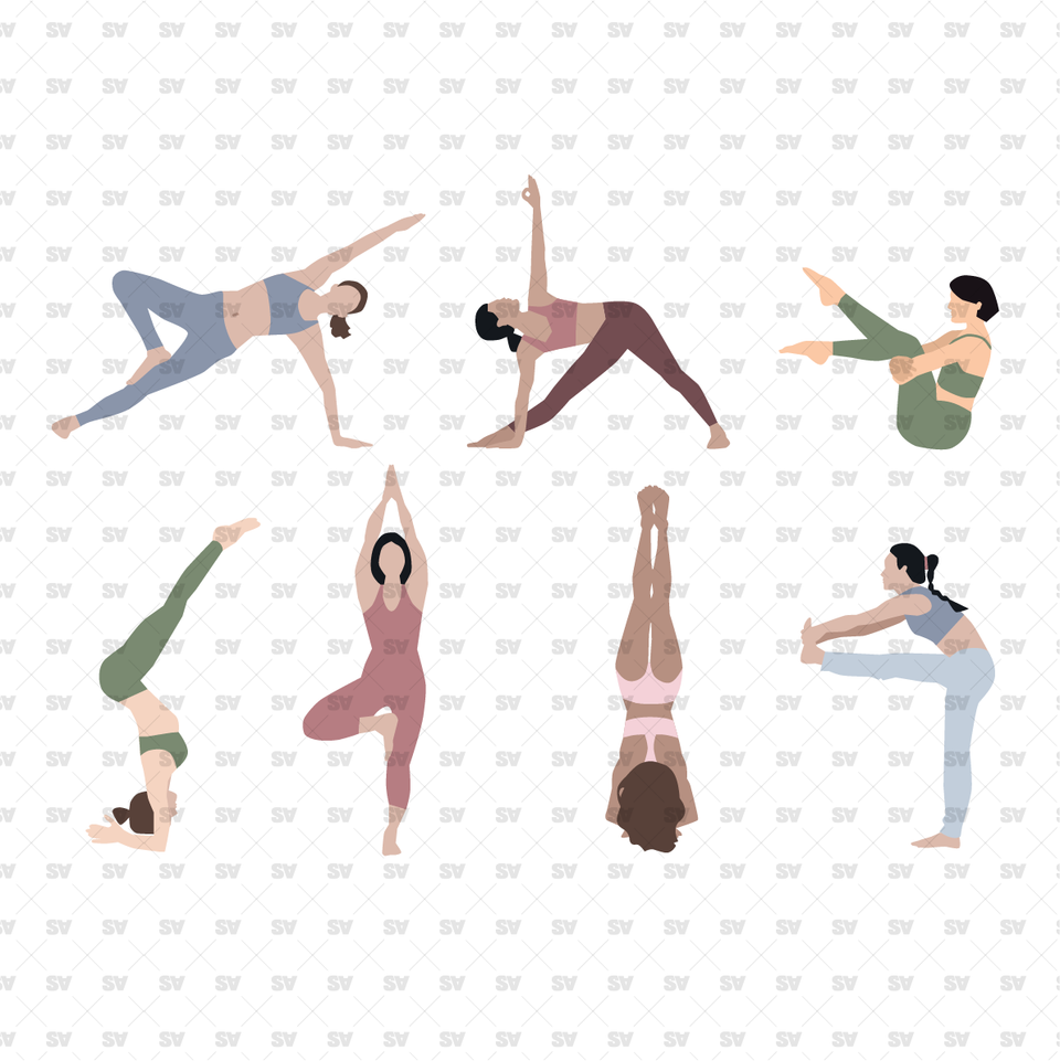 Yoga Vector / PNG People