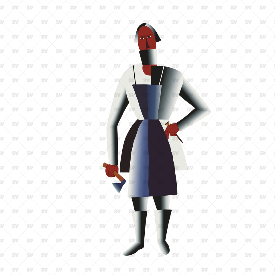 Characters Based on Kazimir Malevich Art