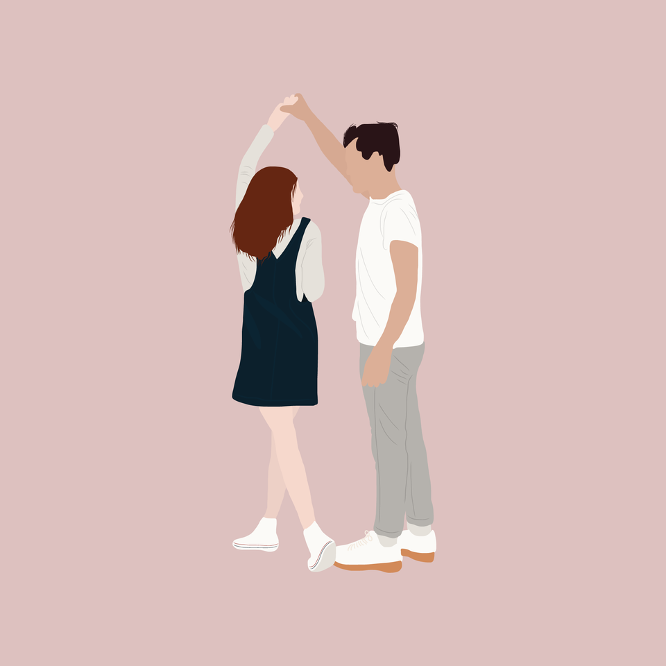 flat vector people illustration couple
