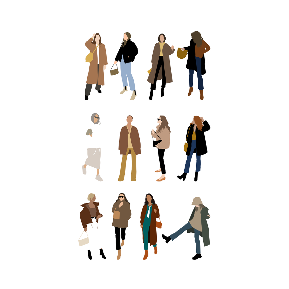 flat vector people autumn free