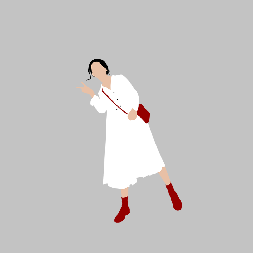 Belarus Women in White illustration