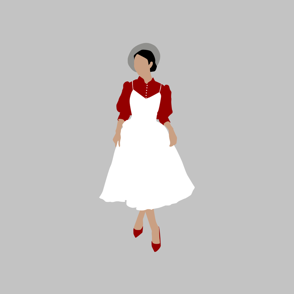 women in white png
