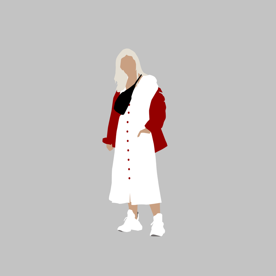 woman in white png