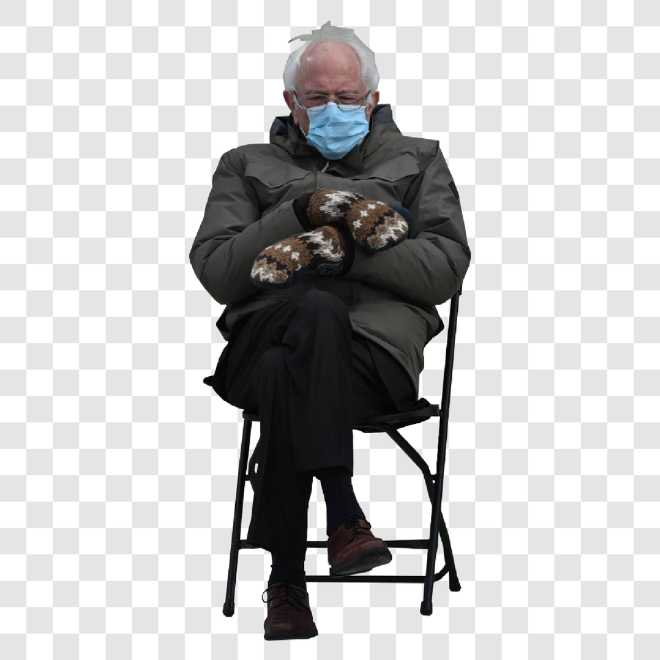 Bernie Sanders Cutout Without Background PNG (Free)