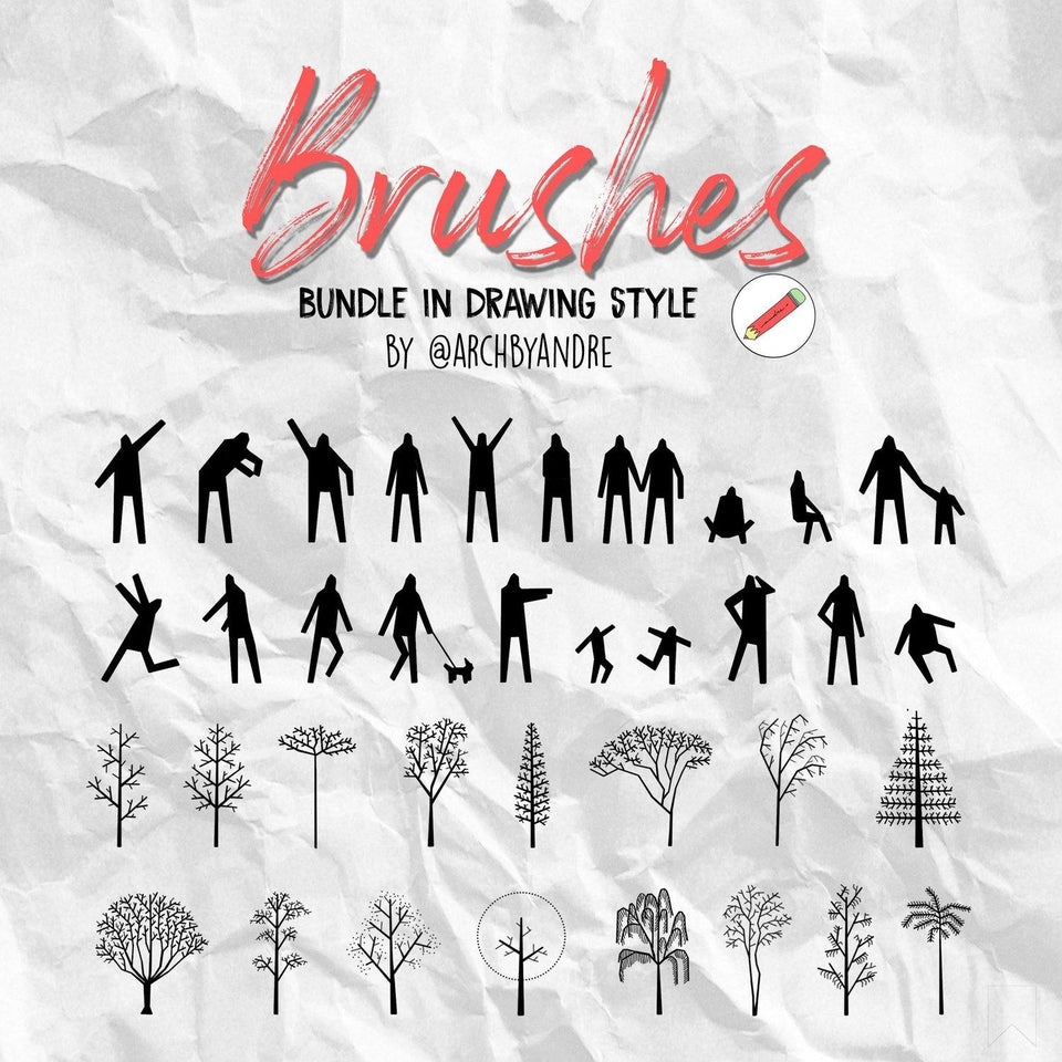 photoshop brushes people trees