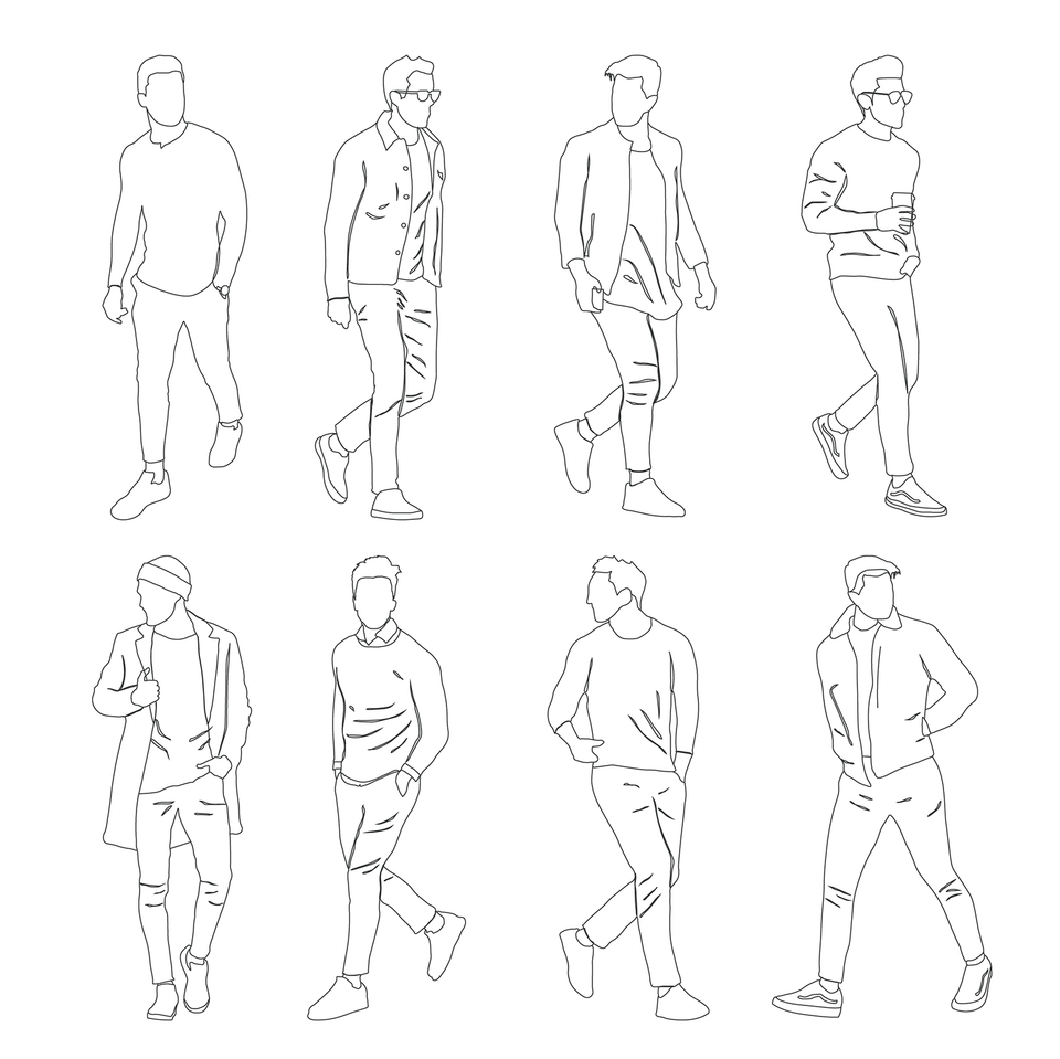Human Scales vector men