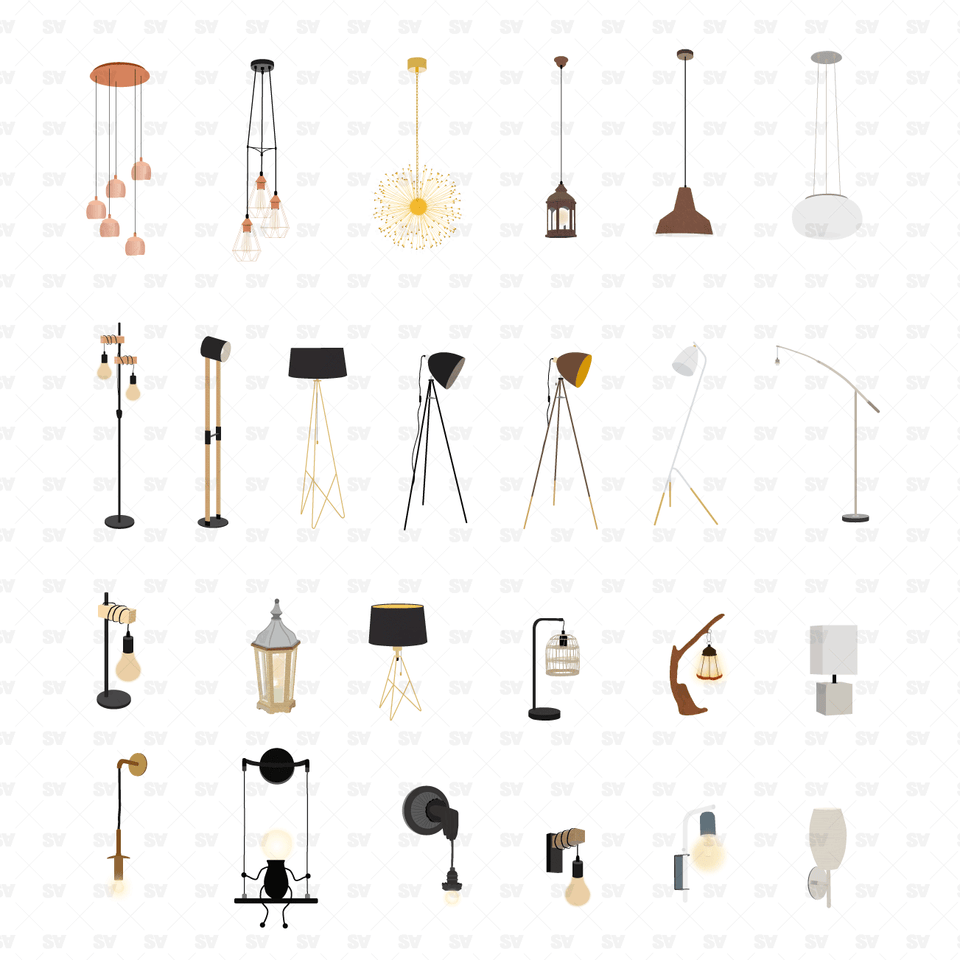 Vector Lamps (25 Figures)