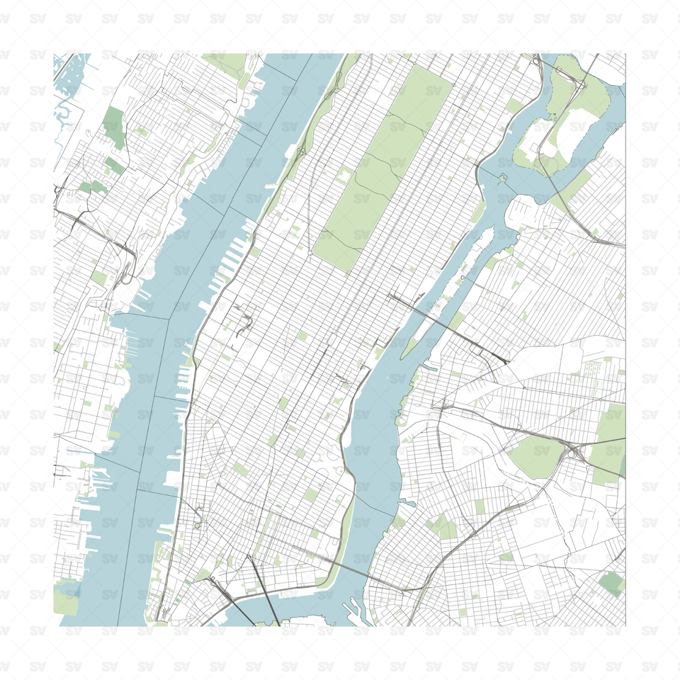 Vector map of New York, NY, US download