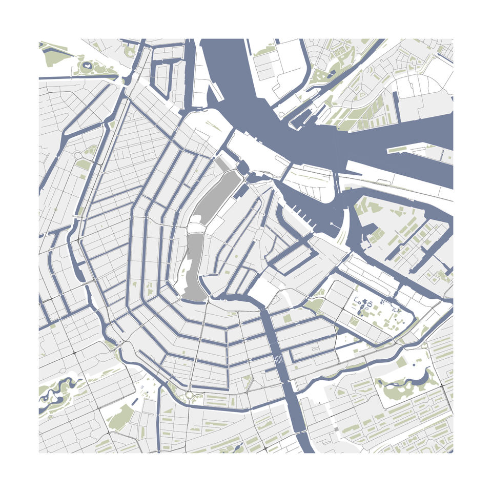 Amsterdam Vector Map download