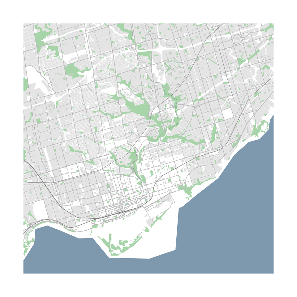 Toronto vector map download