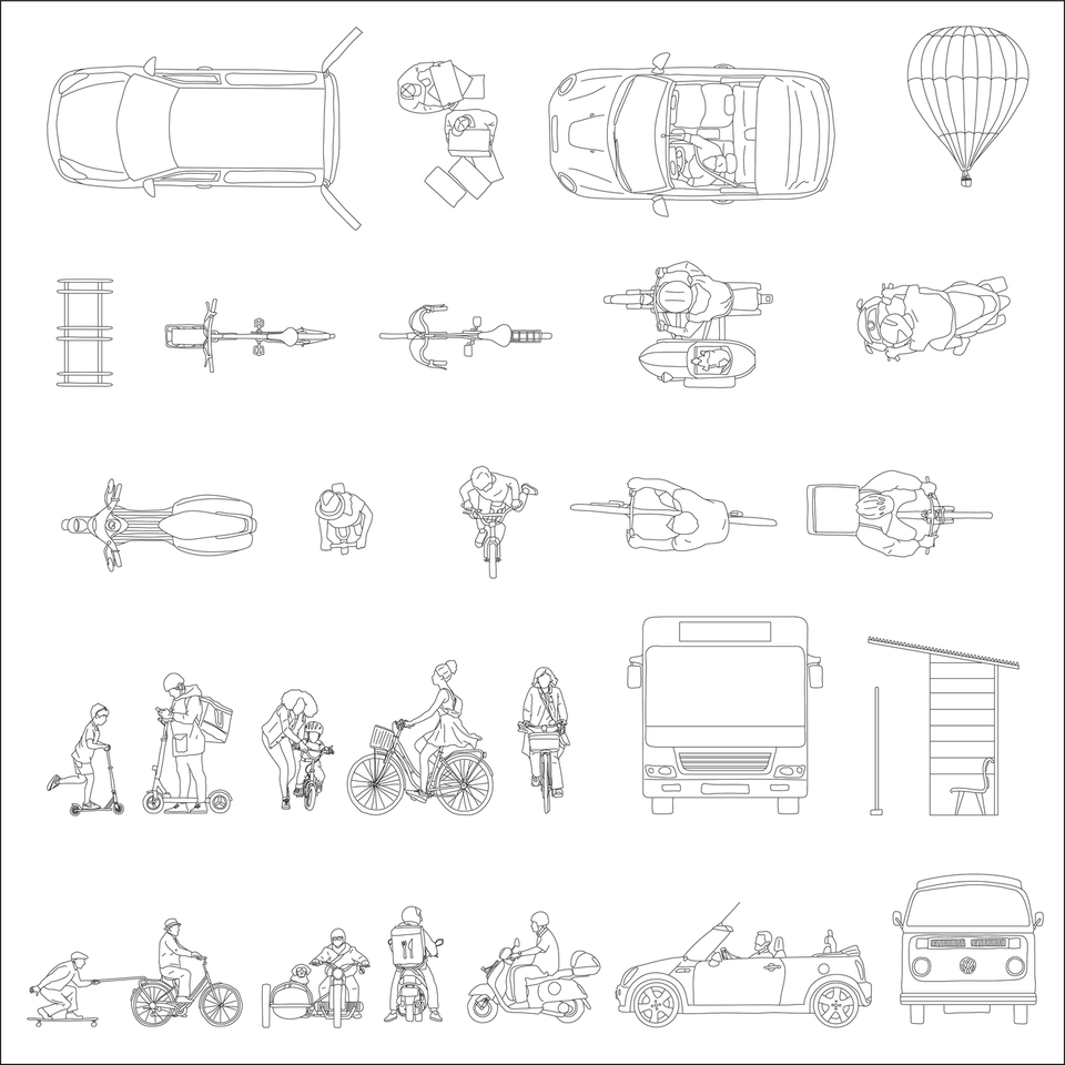 vehicles cad vector