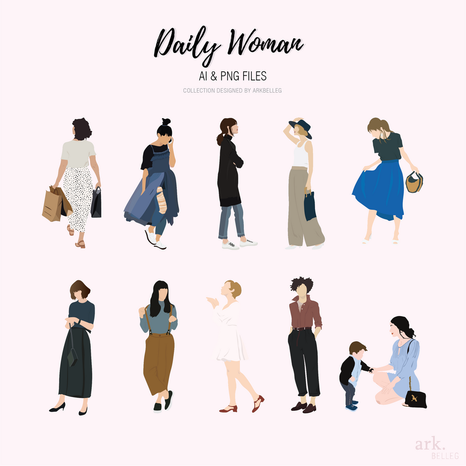 vector daily women