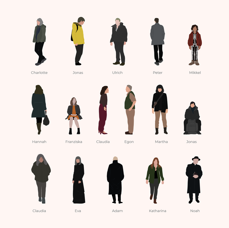 Vector Characters of Dark - Netflix series