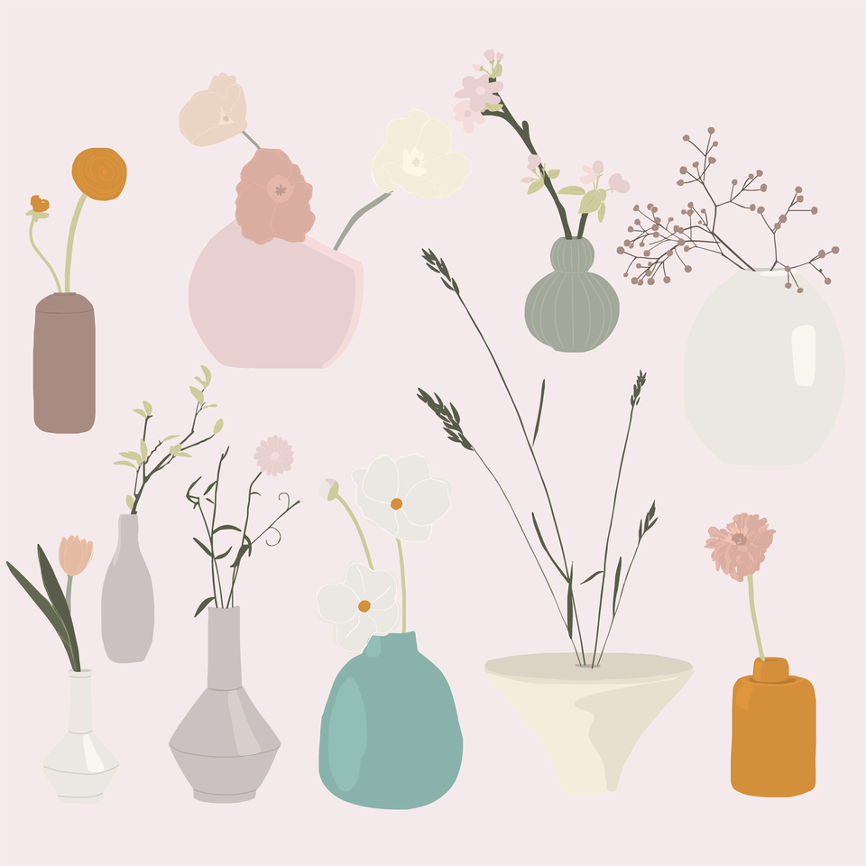 flowers in vases png