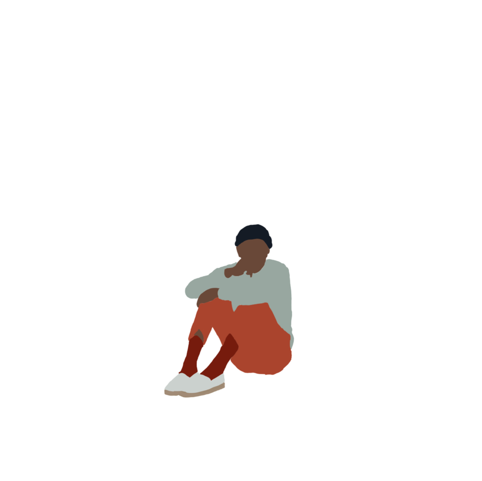 human scale black guy sitting