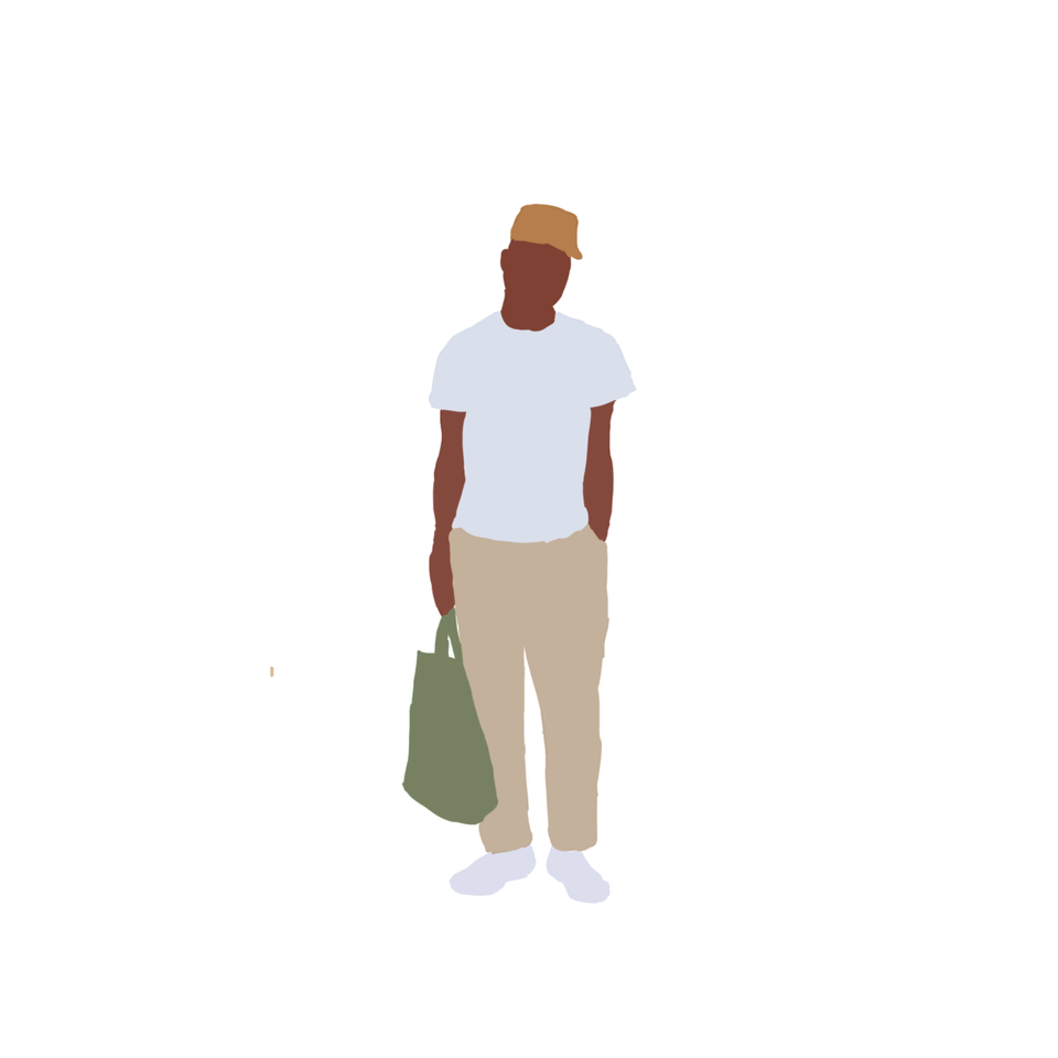 black illustrated guy png