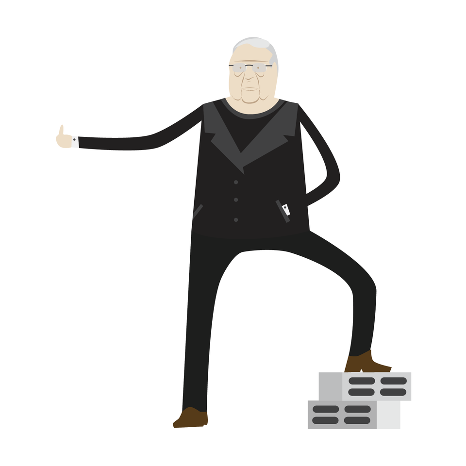 Frank Gehry Vector Character