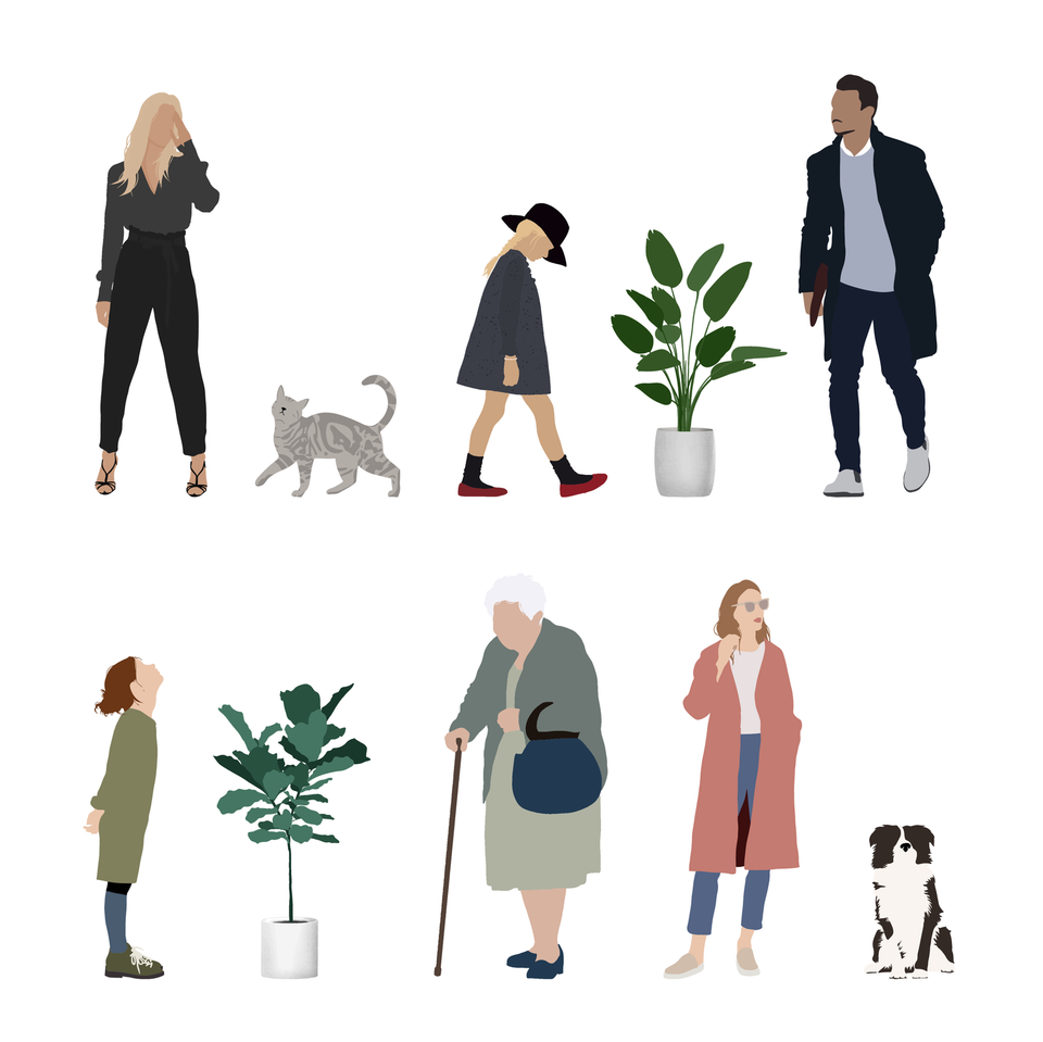 free vector people animals plants