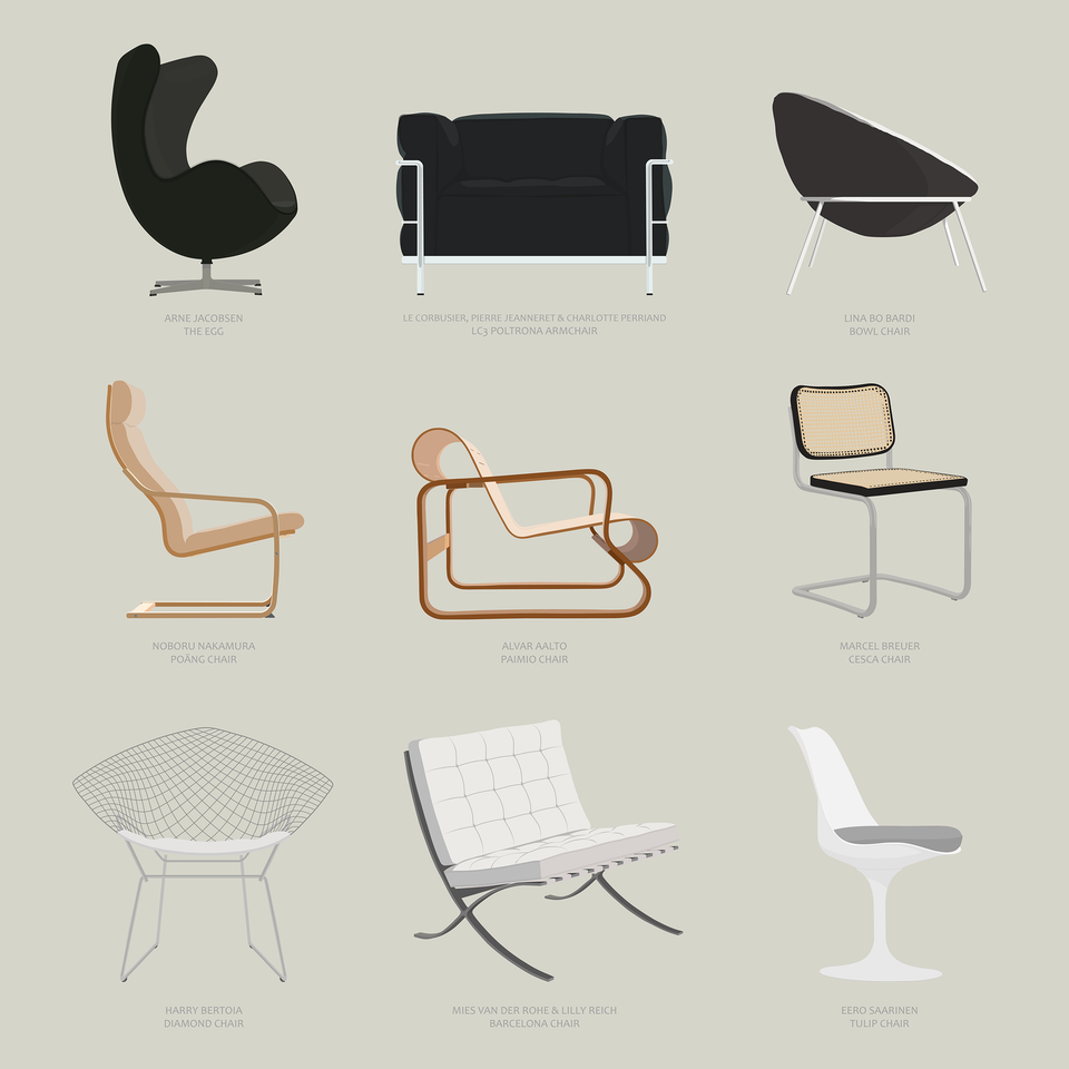 chairs by architects furniture