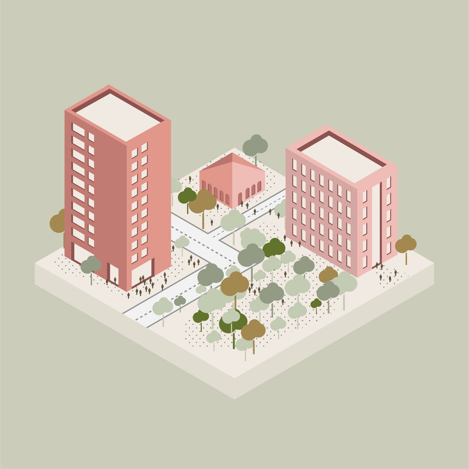 isometric vector architecture