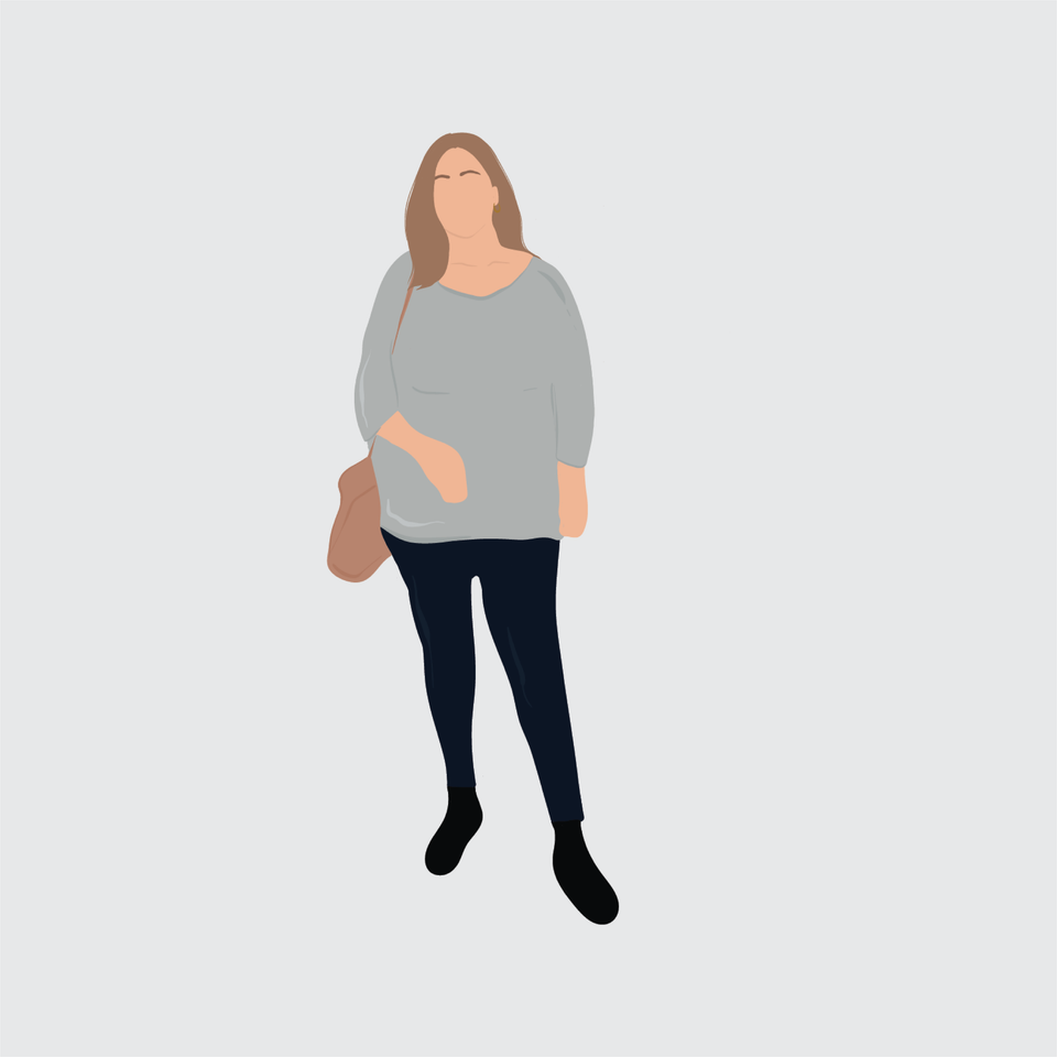 flat vector people illustration fat