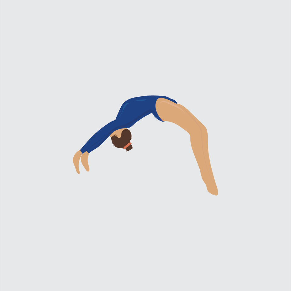 flat vector people illustration gymnastic