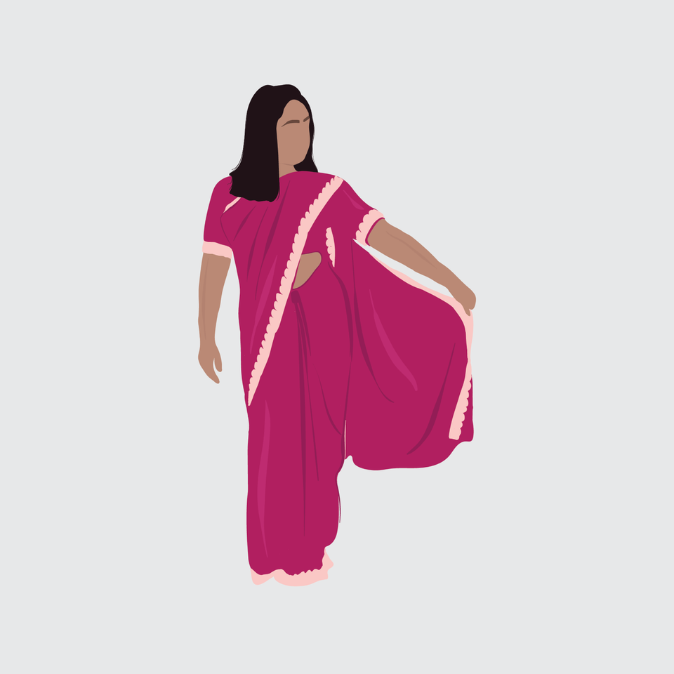 flat vector people illustration indian