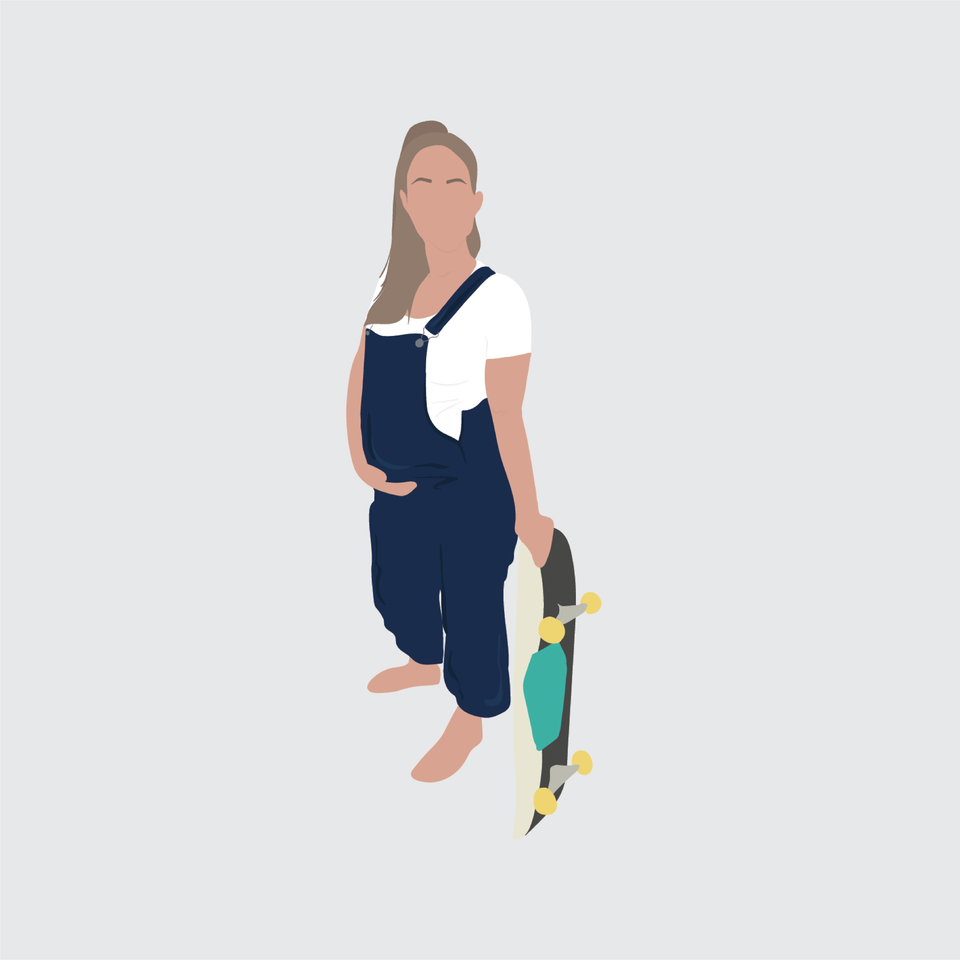 flat vector people illustration pregnant