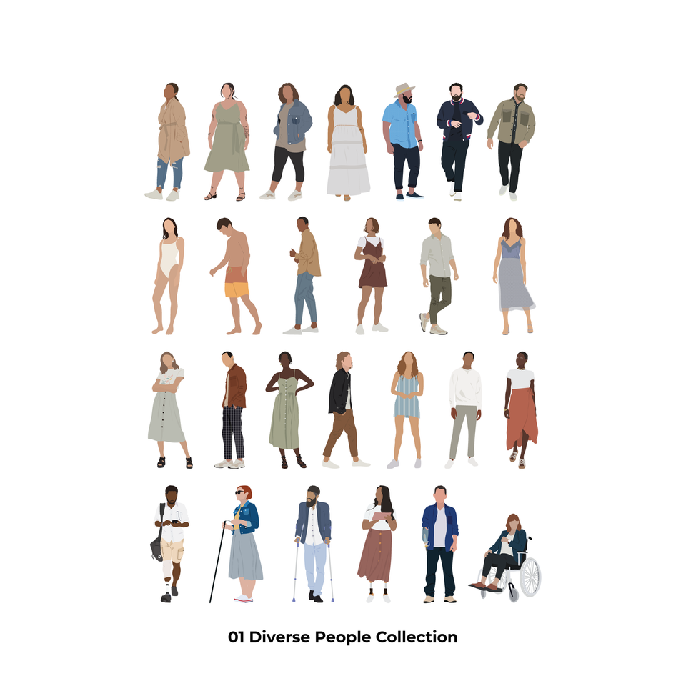 Mega Vector Pack: People, Plants & Animals-Vectors-Studio Alternativi