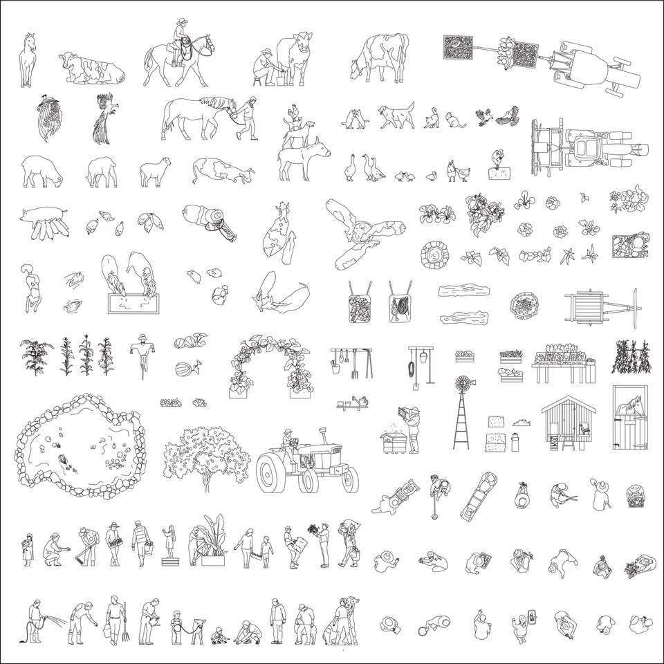 Farming & Agriculture cad vector