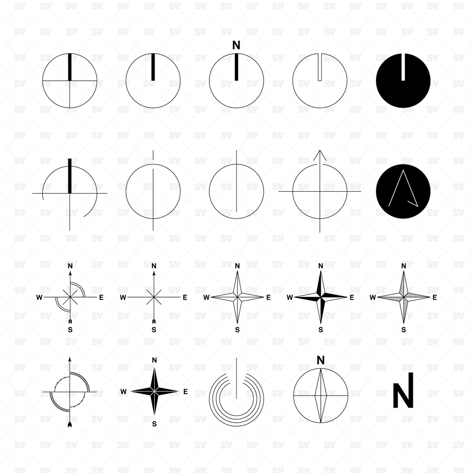 vector north symbols