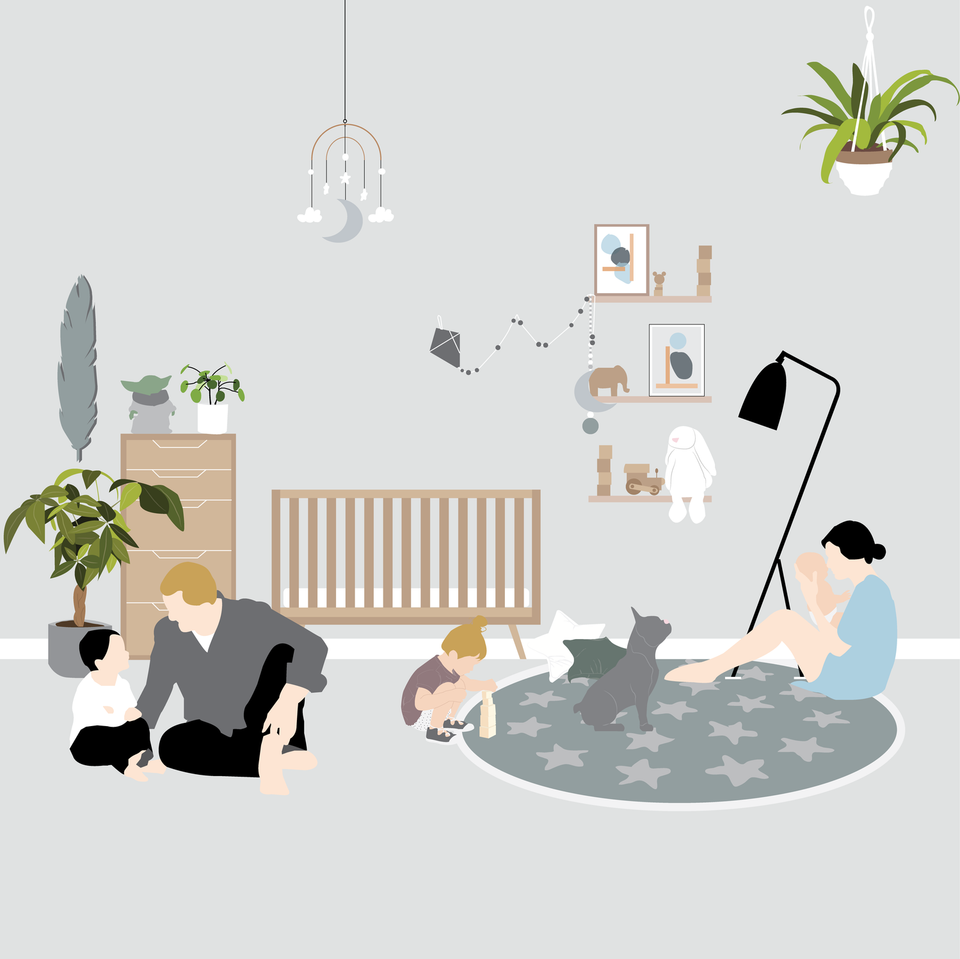 vector furniture nursery children